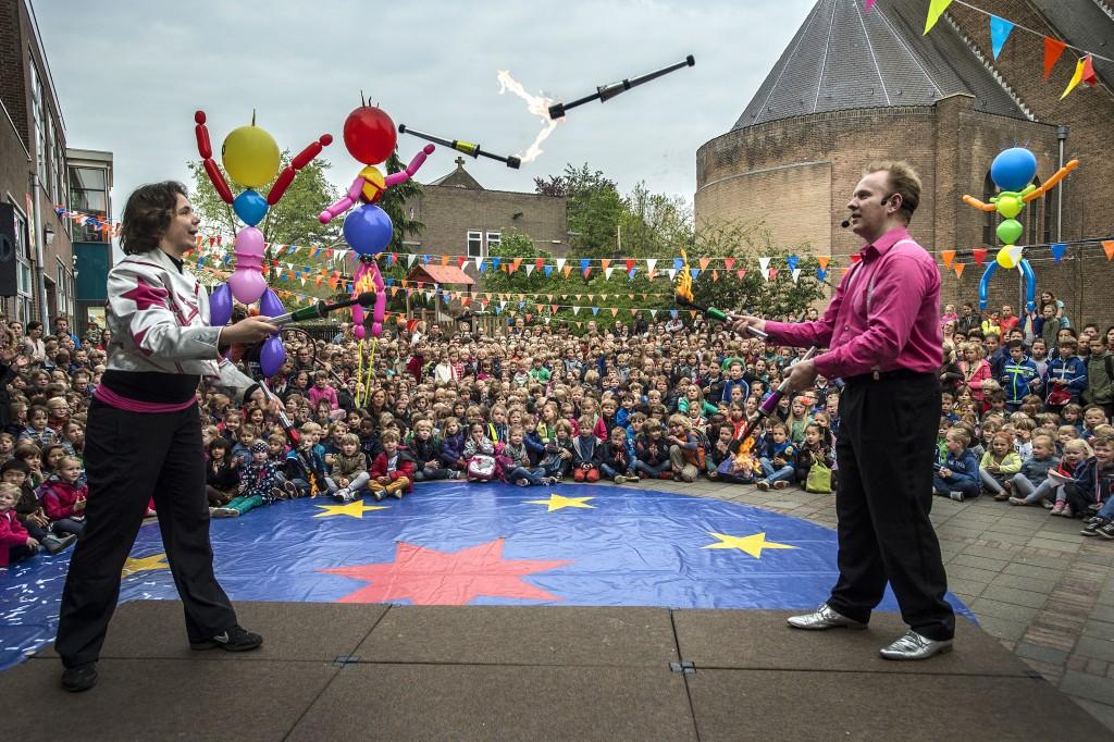 breda-foto : ron magielse kbs de zandberg bestaat 85 jaar en viert dit met een week rondom het thema circus.